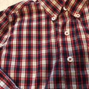 PEEK brand plaid button down shirt
